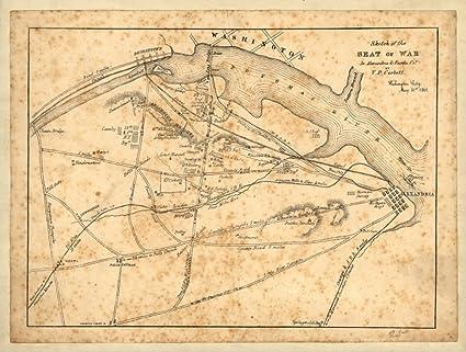 Amazon Com 1861 Civil War Map Of Arlington Virginia History