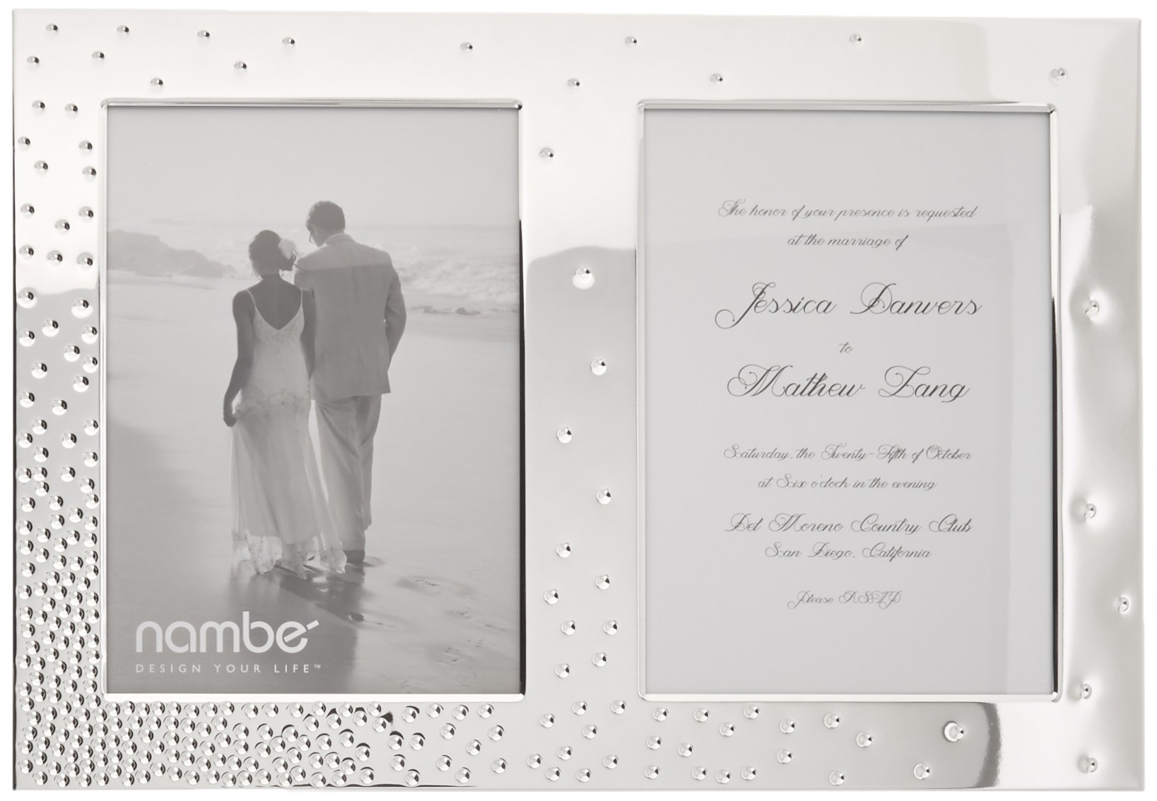 Nambé Dazzle Double Invitation Frame by Nambé