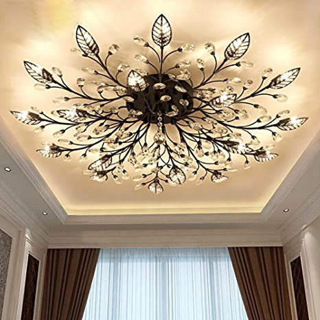 Lights & Lighting Ceiling Lights & Fans Responsible Led Hanging Lamps Novelty Chandelier American Style Living Room Lights Bedroom Chandeliers Iron Glass Fixtures Nordic Lighting