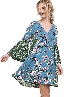 195719c0520 ... Boho Chic Plus Size.  26.04 · Umgee Women s Multi Floral Bell Sleeve  Crochet Babydoll Dress