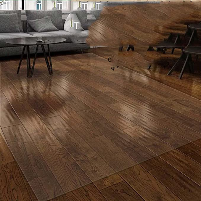 16x24inch Transparent Floor mat Plastic Carpet PVC Entrance Hall mat Bedroom,Computer Swivel mat Wooden Flooring Protection mat-A 40x60cm