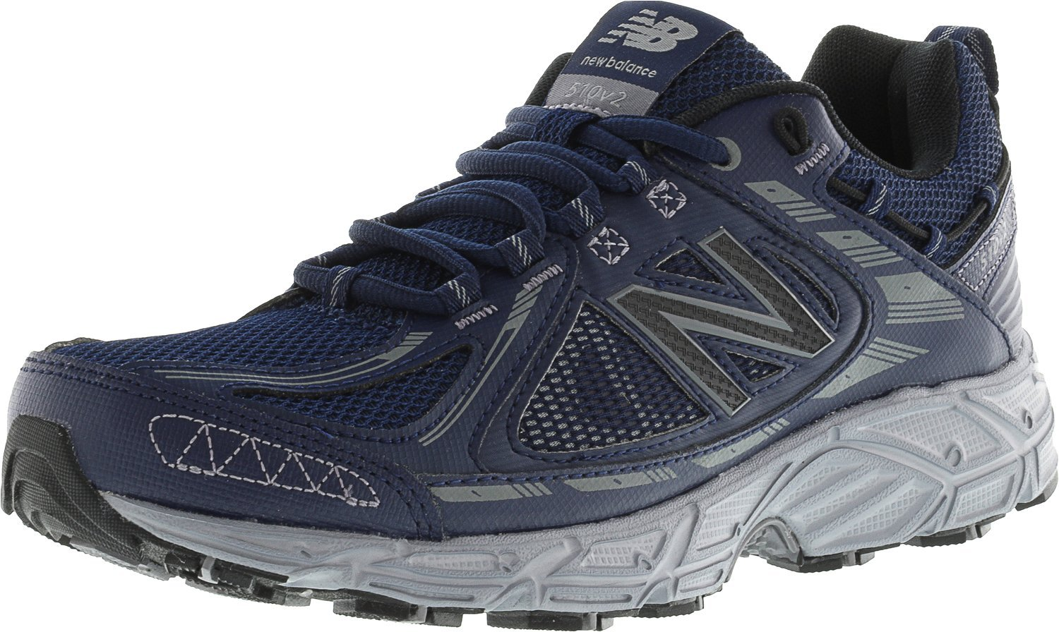 New Balance Mens MT510SN2 Low Top Lace up Tennis Shoes, Navy/Grey, Size 8.0 by New Balance