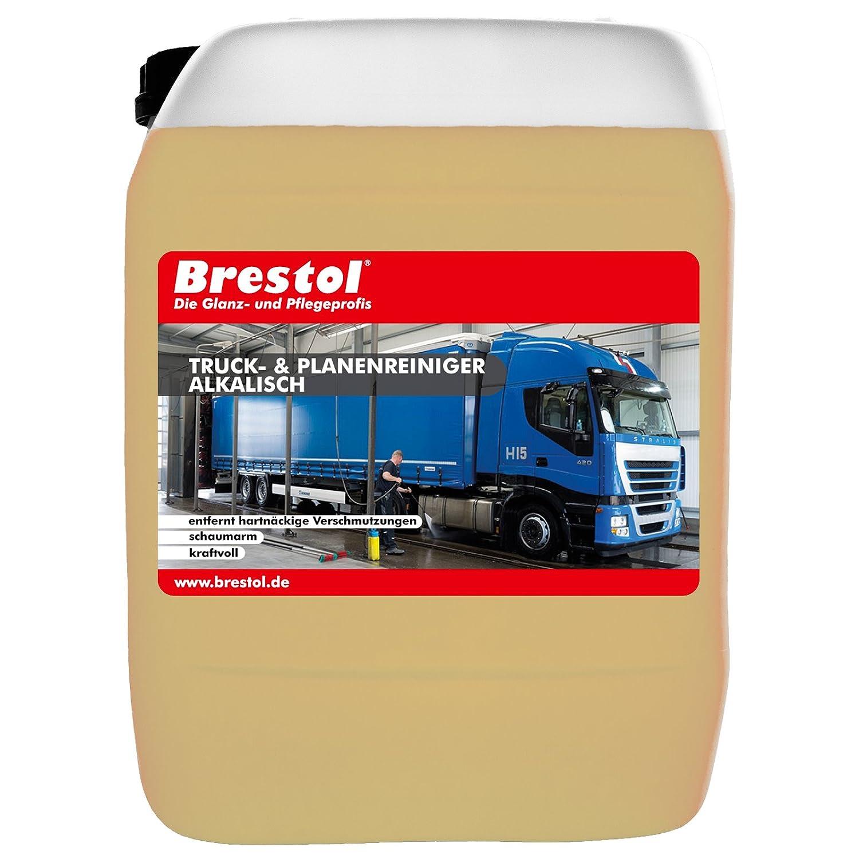 Brestol Pulitore & teloni Truck Alka lisch 10 litri (1680.10) –  -Truck Pulitore Detergente Spray Detergente per plastica, HD di pulitore detergente tenda Pulitore Concentrato –  Original