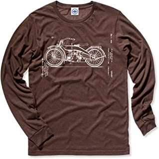 product image for Hank Player U.S.A. Harley Motorcycle Patent Men's Long Sleeve T-Shirt