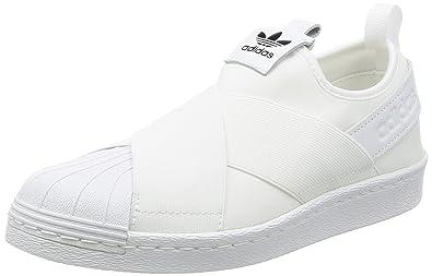 27b3f7f3703 Tênis Adidas Superstar Slip On Originals Branco Feminino 36  Amazon ...