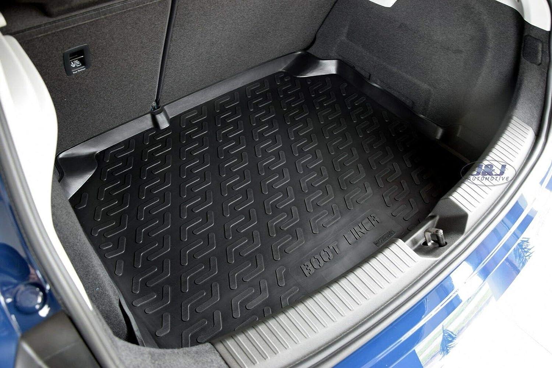 J/&J AUTOMOTIVE Tapis DE Coffre Caoutchouc Premium Compatible avec Seat Leon 2013-pr/és