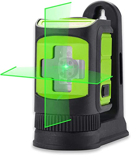 MAKINGTEC SA-02CG Laser Level Self-Leveing, Horizontal and Vertical Lines, Mini Cross Line Laser for DIY with Magnetic Bracket Green Laser Beam Green Color