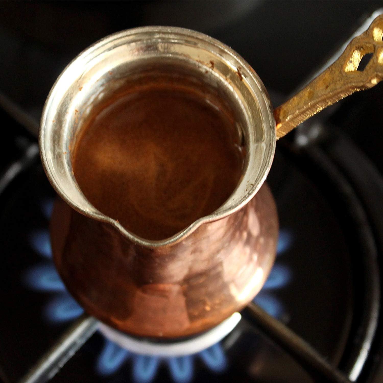 2 Cup Rame Caffettiera in rame turco 200 ml