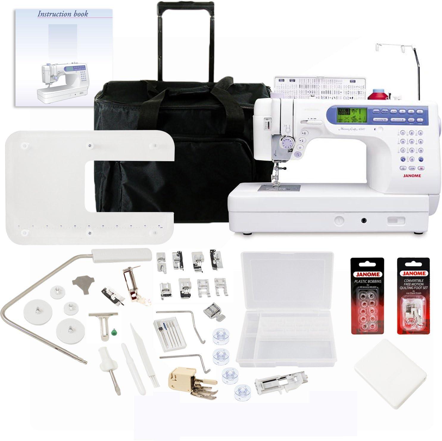 Janome Memory Craft 6500P máquina de coser con exclusivo paquete de bono: Amazon.es: Hogar