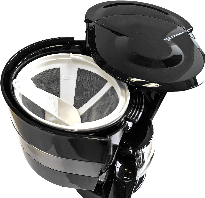 Cafeti/ère 24 V 0,65 L verseuse en verre 300 W Cafeti/ère de voyage pour camion bateau ou camping 6 tasses branchement allume-cigare