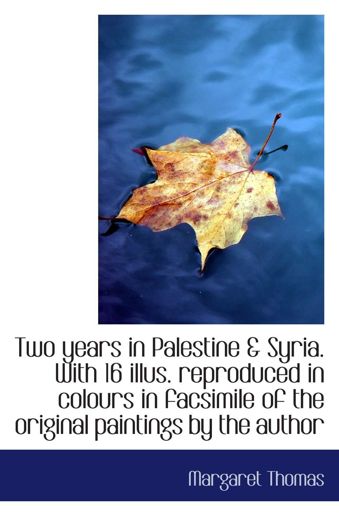 Two years in Palestine & Syria. With 16 illus. reproduced in colours in facsimile of the original pa ebook