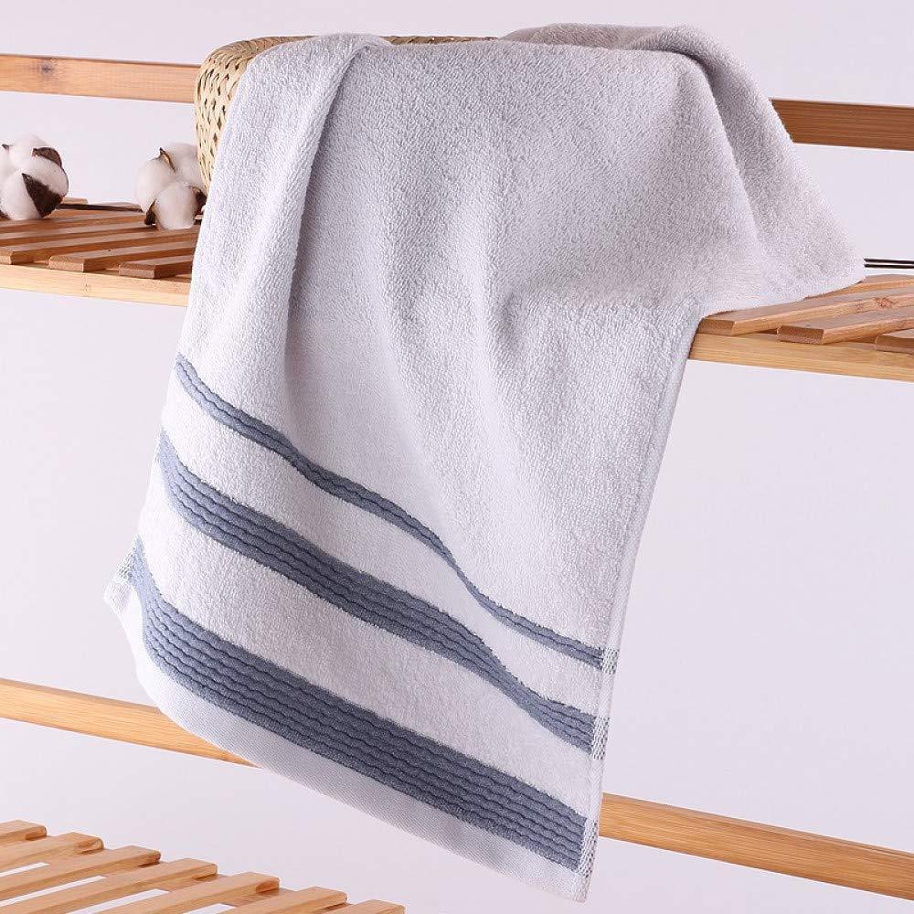 BiAnHua Toalla Absorbente Suave y cómoda de Viaje Toalla Tejida Adulta portátil de algodón Toalla Suave Agua de Lavado, Azul, 73 * 35cm