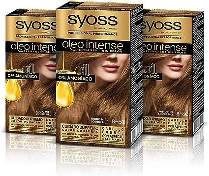 Syoss Oleo Intense - Tono 8-60 Rubio Miel (Pack De 3 ...