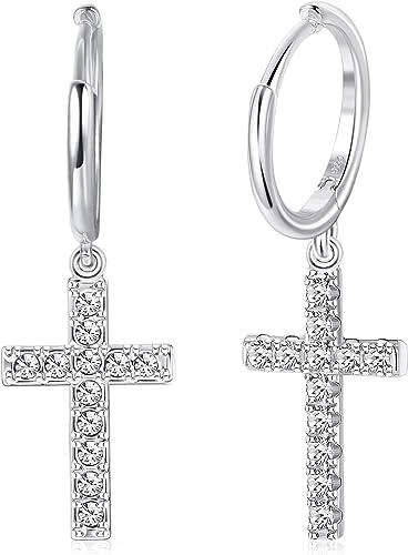 Superbes pur argent sterling 925 petit croix celtique argent Boucles d/'oreilles
