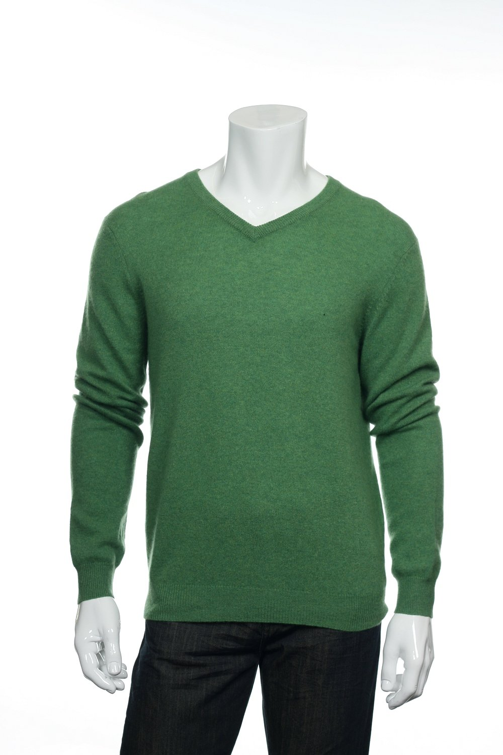 Club Room Green V-Neck Sweater, Size Large