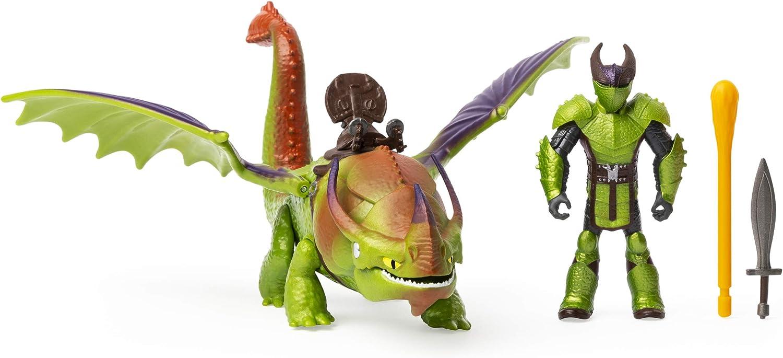 Dreamworks Dragons, Eret & Skullcrusher, Dragon with Armored Viking Figure, for Kids Aged 4 & Up