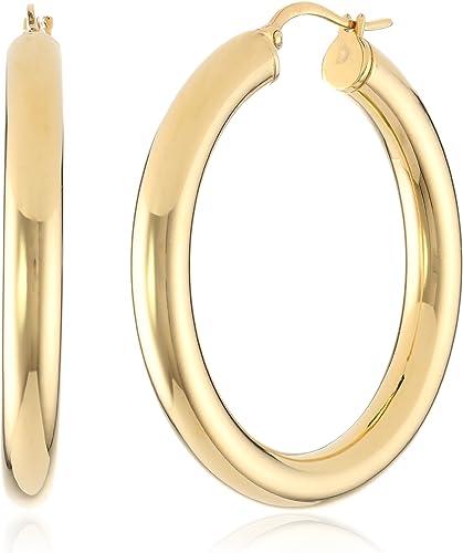 High Polishing Gold Plated Stainless Steel Hoop Earrings For Women
