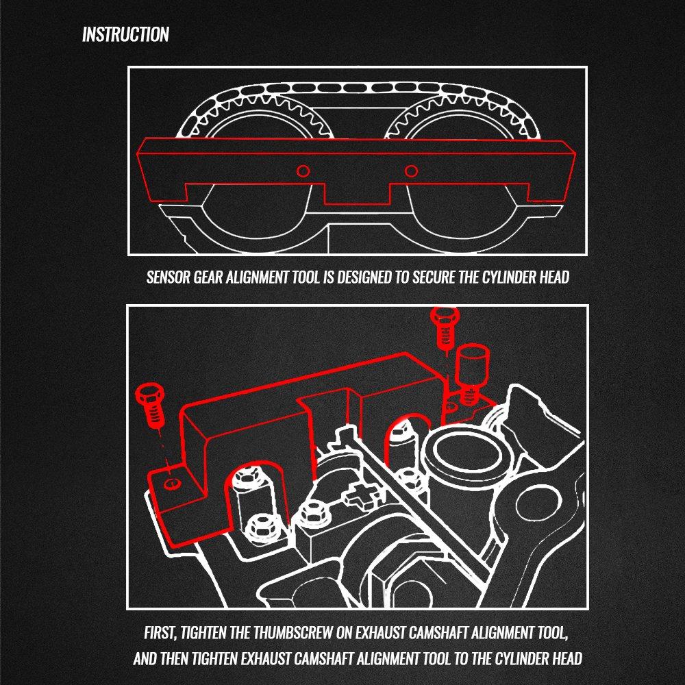 EWK N42 N46 316i 318i Camshaft Alignment Cranshaft Timing Tool Flywheel Locking Pin for BMW