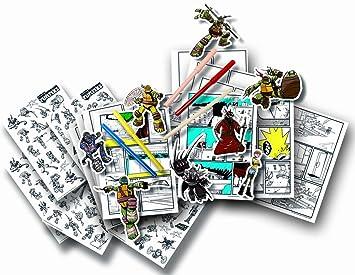 Flair Leisure - Juego de Pegatinas Tortugas Ninja (12150 ...