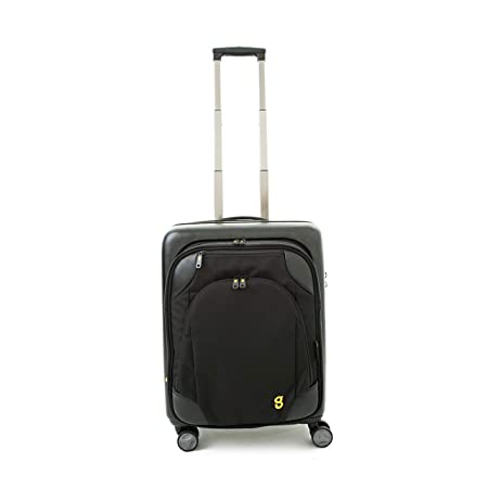 3956ca0b26 GATE8 Hard Shell Cabin Luggage 4 Wheel Spinner Suitcase for BA Easyjet - Spin  Mate Plus