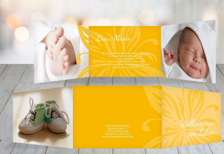 Kartenparadies Geburtskarte Babykarte Blaume, hochwertige Babykarte zur Geburt inklusive Umschläge   20 Karten - (Format  148x105 mm) Farbe  DunkelGrün B01N6WVVSV | Eleganter Stil  | Sofortige Lieferung  | Attraktives Aussehen