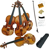 Aliyes Solid Wood Violins Full Size 4/4 Violin Kit For Beginners With Case,Shoulder Rest,Bow,Rosin,Extra Bridge And…