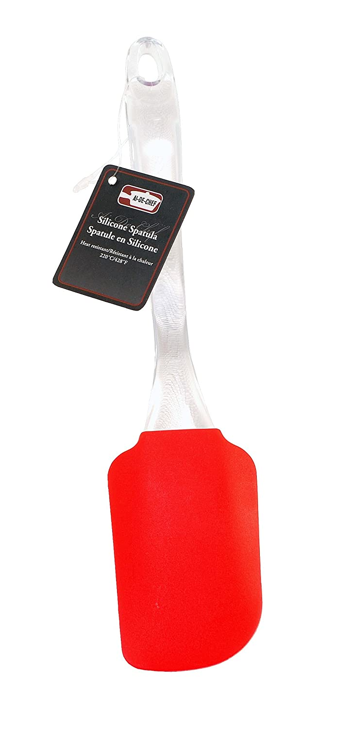 Stainless Steel /& Silicone Whisk for Blending Beating /& Stirring Silicone Spatula and Whisk Set Non-Stick Flexible Silicone Spatula By Ai-De-Chef Heat Resistant up to 428/ºF 2-Pack, Red