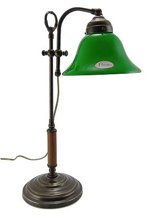 Lámpara de mesa latón, acabado pulido, escritorio, lámparas ...
