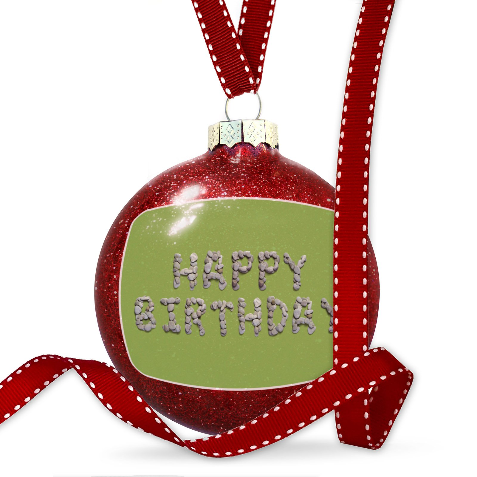 Christmas Decoration Happy Birthday Spa Stones Rocks Ornament
