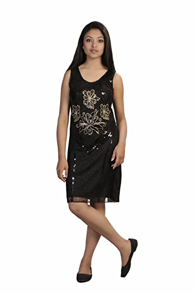 Vestido negro de noche accesorios