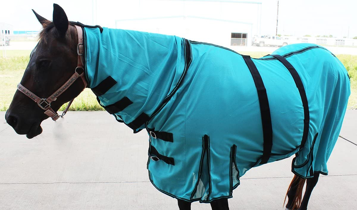 CHALLENGER 66 Horse Bug Mosquito Fly Sheet Summer Spring Airflow Mesh UV Neck 73147