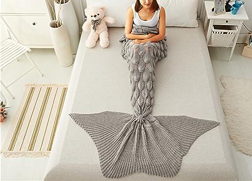 Sofaüberwürfe sweetwill meerjungfrau decke für erwachsene und kinder häkeln