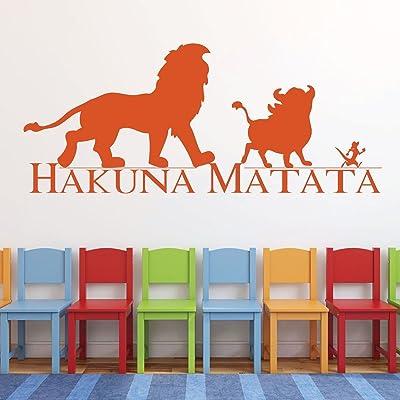 Buy Hakuna Matata Wall Decal Vinyl Lion King Decor Simba Pumba And Timon Good Friends Lion King Nursery Theme Playroom Decor And Boys Bedroom Ideas Online In Taiwan B01m5j9xil