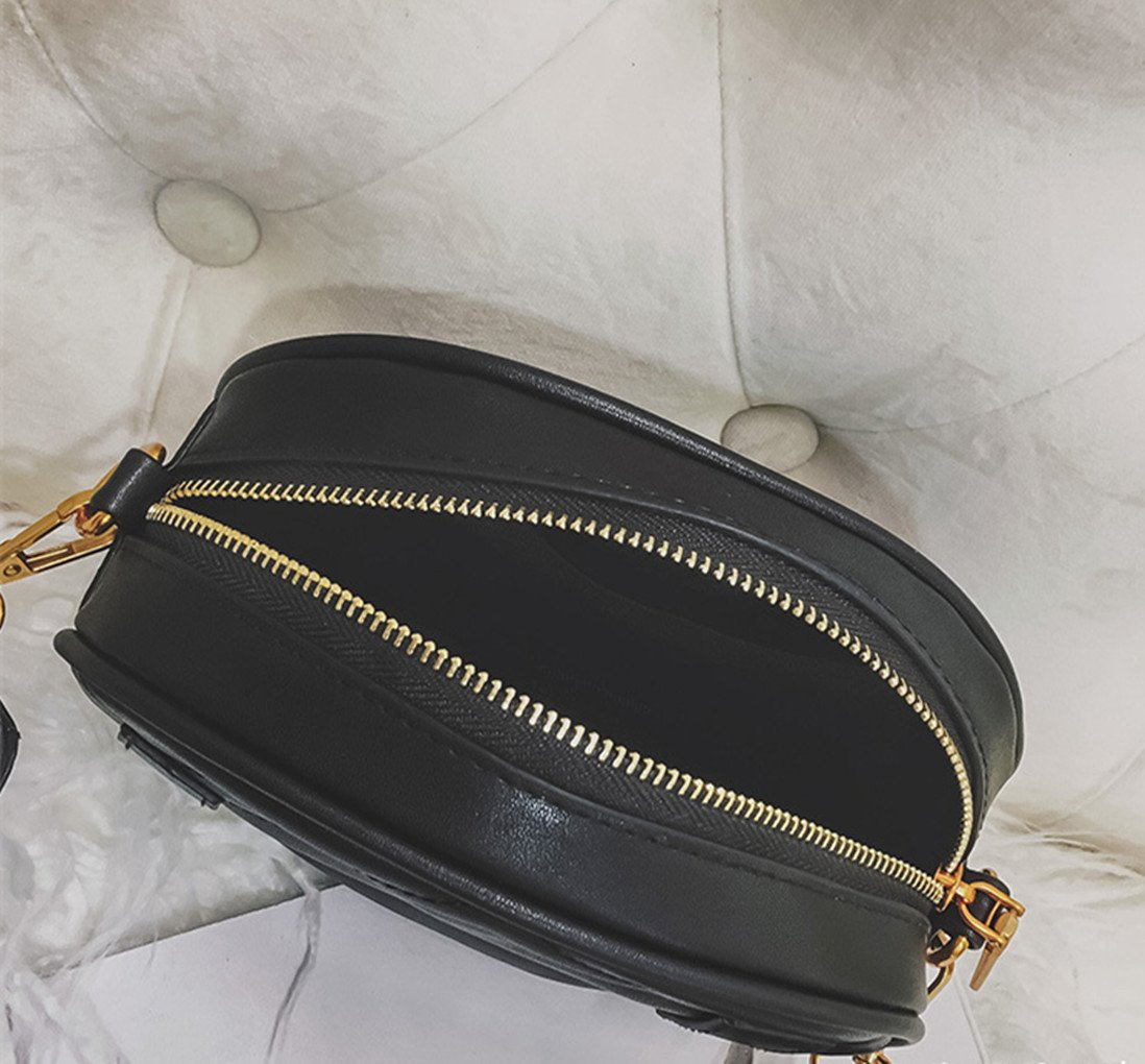 Olivia Elegant Leather Fanny Pack Embroidery Love Pattern PU Leather Waist Bag Bum Bag Travel Cell Phone Bag Pouch(Heart Black) by Olivia (Image #6)