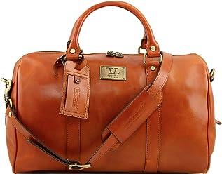 2fe1d06e62 Tuscany Leather TL Voyager Borsa da viaggio in pelle con tasca sul retro - Misura  piccola