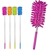 EXTENDABLE MULTIFUNCTIONAL TELESCOPIC MICROFIBRE CLEANING DUSTER FEATHER BRUSH