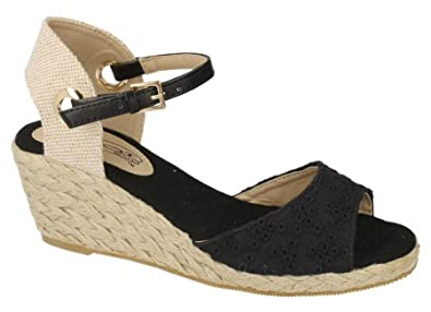Women's Synthetic Leather Sandals 8 Black