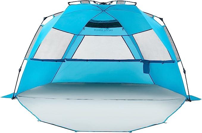 Amazon.com: Pacific Breeze Easy Setup Beach Tent Deluxe XL (XL with Extendable Floor): Garden & Outdoor