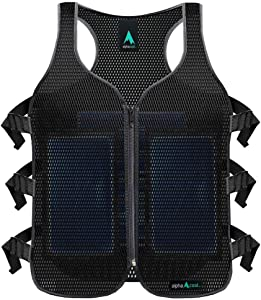Alphacool Frosty Mesh Ice Vest for Men and Women – Cooling Vest with Ice Packs, 2 Sets – Three Gel Pad Pockets – Adjustable Straps for Custom Fit