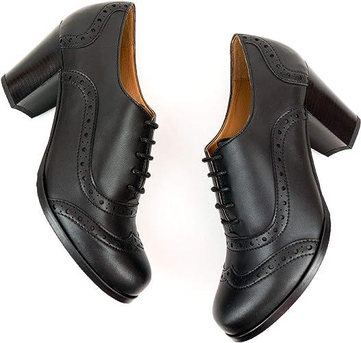 Vegan Shoes Womens City Brogues Black