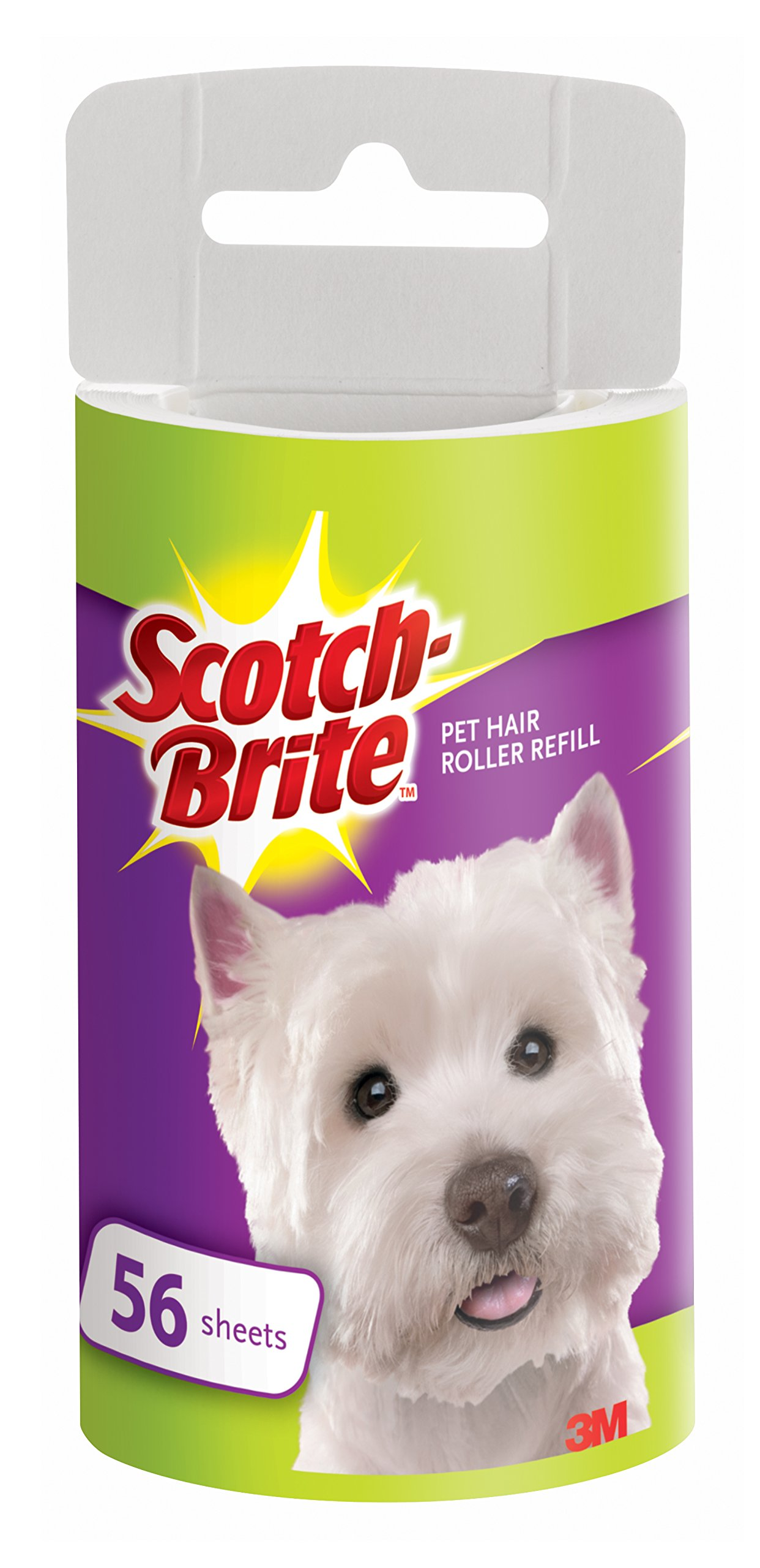 Scotch-Brite Pet Hair Roller Refill, 56-Sheets/Roller, 12 Rollers/Pack (672 Sheets Total)