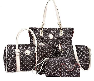 811de51427 Amazon.com  King Ma Women s Totes 6 Pieces Set Handbag Cross-Body Pouch  Purse Wallets  Shoes