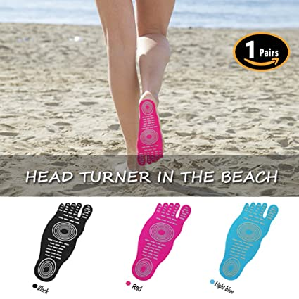 Geckos - Beach Foot Pads Stick On SolesInvisible Shoes Stick-On Foot PadsFoot StickersNakefit Stick On Soles With Anti-Slip and Waterproof Design by