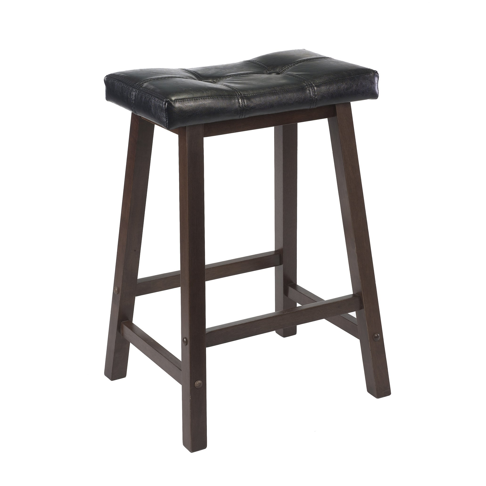 Winsome 94064 Mona Stool, 24'', Antique Walnut by Winsome