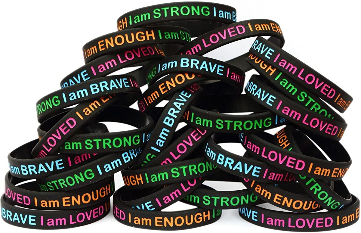 2 Child Size He Is First and I Am Second Wristbands Debossed Silicone Bracelets