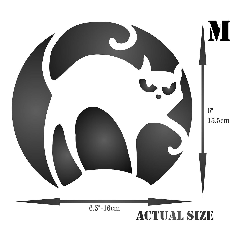 Amazon.com: Halloween Cat Stencil - (size 6.5\