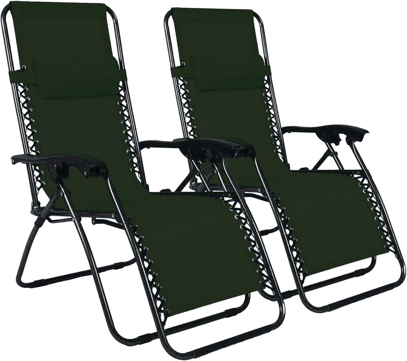 Odaof Zero Gravity Chair Green Set of 2