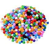2000pcs 8MM Bunt Pompons,Gemischte Farben Pompons für Handwerkmachen und Hobbybedarf,Zum Basteln,DIY Hobby Supplies und Plüschtiere,Mischfarbe