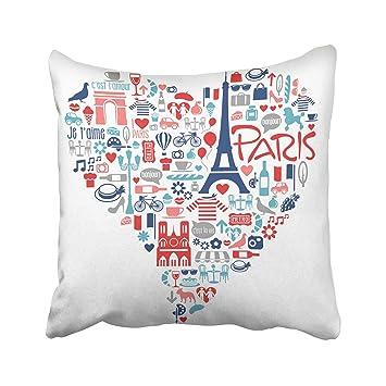 Amazon.com: Emvency Cafe Paris France - Funda de almohada ...