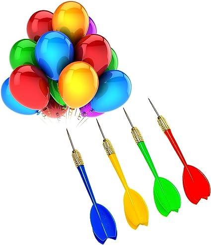 3 Red /& 3 Blue Steel Tip Brass Dart Sets for Bar Party Carnival Games 6 Pack